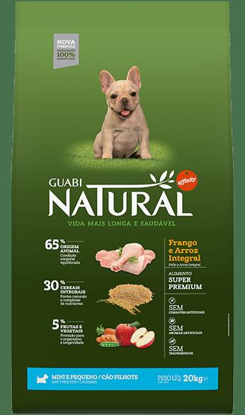 Ração Guabi Natural Cães Adulto Raças Mini e Pequenas Frango e Arroz Integral