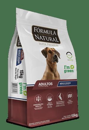 Ração Fórmula Natural para Cães Adultos de Raças Médias e Grandes
