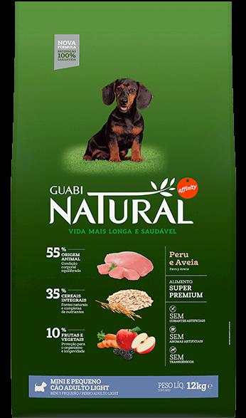 Ração Guabi Natural Cães Adultos Light Raças Mini e Pequeno Peru e Aveia