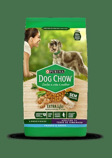 Ração Dog Chow Adulto Longevidade 7+ Frango e Arroz