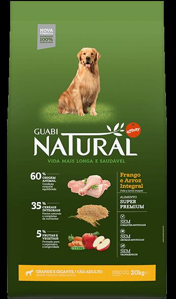 Ração Guabi Natural Cães Adultos Grandes e Gigantes Frango e Arroz