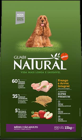 Ração Guabi Natural Cães Adultos Médio Frango e Arroz